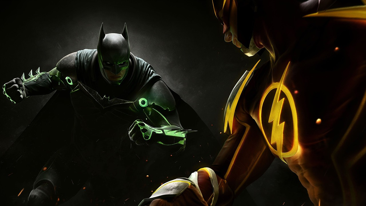 Injustice 2 Batman Flash Artwork
