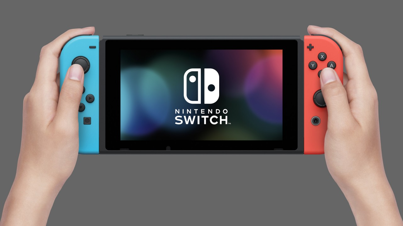 Nintendo Switch con Joy-Con colorati: in modalità portatile come 3DS