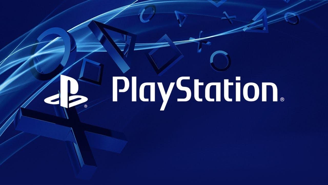 PlayStation Logo con sfondo