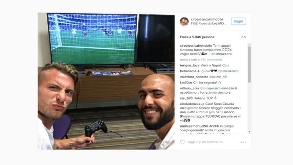 Immobile e Zaza PS4 Instagram