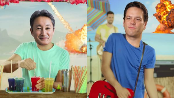 Kaz Hirai e Phil Spencer: granite e granate all'E3