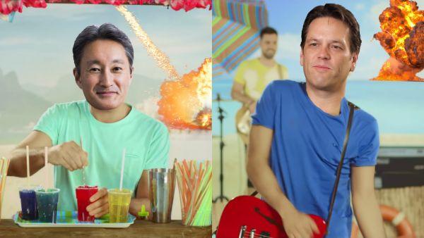Kaz Hirai e Phil Spencer: granite e granate all'E3