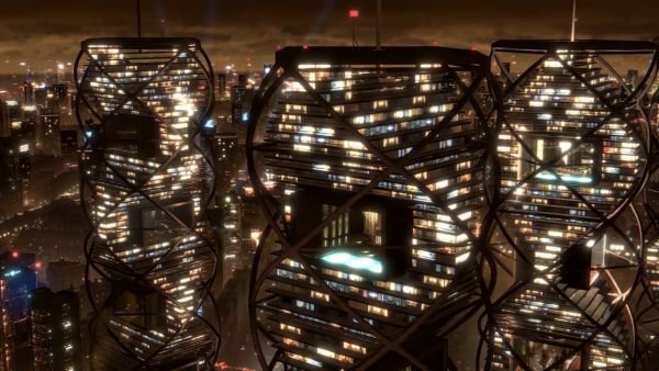 Grattacielo futuristico
